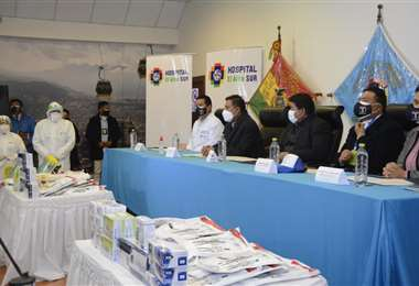 La firma del acuerdo interinstitucional I Teleférico.