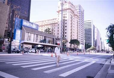 Hubo presencia chiquitana en las calles del centro de San Pablo