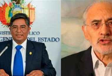El secretario de la Fiscalía y Mesa, líder de la oposición