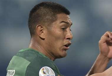 Erwin Saavedra marcó el gol de honor contra Argentina. Foto: AFP