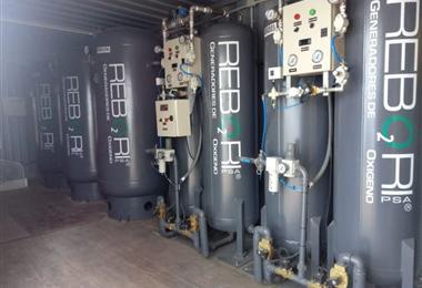Planta de oxígeno instalada en Tarija. Foto. El País
