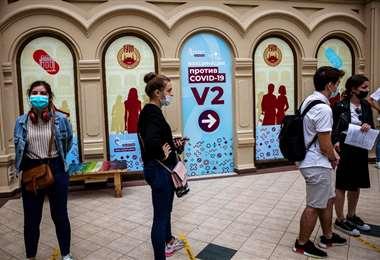 Continúa el proceso de inmunización en Rusia