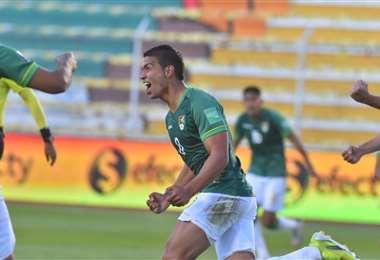 Bejarano marcó el segundo gol de Bolivia y lo gritó a todo pulmón. Foto: APG Noticias