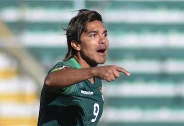 Marcelo Martins grita uno de sus goles que le marcó a Venezuela este jueves. Foto: APG Not