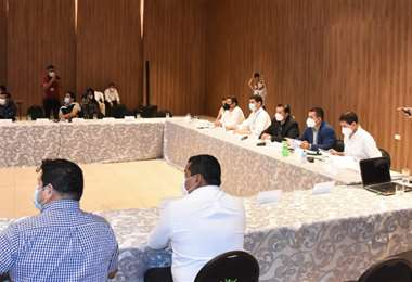 Reunión de alcaldes de la Región Metropolitana. Foto: Alcaldía de Santa Cruz de la Sierra