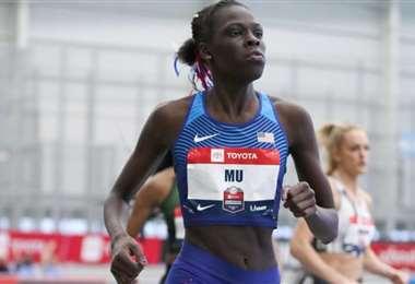 Christine Mbomba, atleta de Namibia. Foto: internet