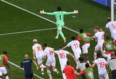 Suiza dio una de las sorpresas del torneo al eliminar a Francia. Foto: AFP