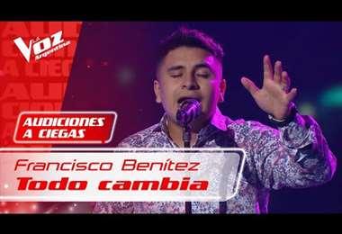 Francisco Benítez llevó a las lágrimas al jurado de La Voz Argentina
