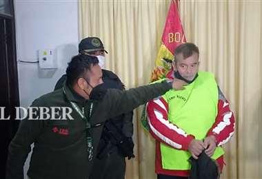 Saavedra cumplirá su condena en Palmasola. Foto Juan Carlos Torrejón
