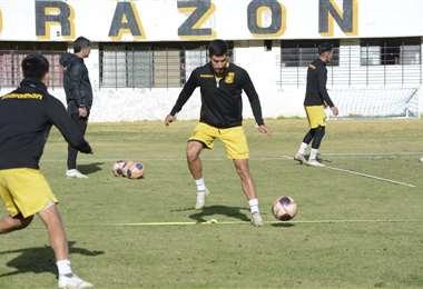 Jaime Villamil en un entrenamiento del Tigre. Foto: CTS