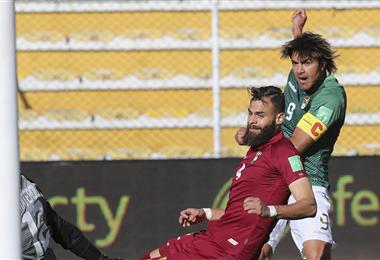 Marcelo Martins marcó un doblete para la Verde ante Venezuela. Foto. AFP