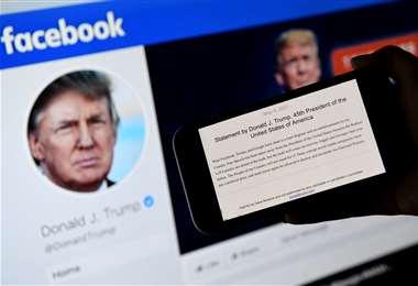 El castigo (silenciamiento de Trump en la red social) será de 2 años