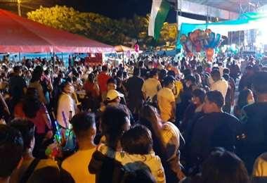 Las redes sociales denunciaron la aglomeración en la fiesta de Chimoré