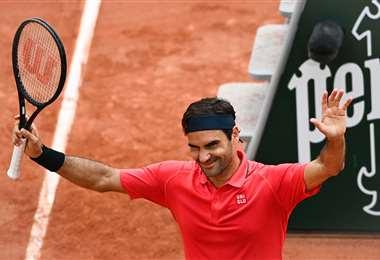 Roger Federer, tenista suizo que participa del Roland Garros. Foto: AFP