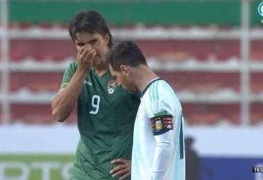Martins y Messi, capitanes de Bolivia y Argentina, respectivamente. Foto: internet