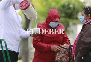 Foto archivo El Deber: Este fin de semana las temperaturas descenderán en la capital.