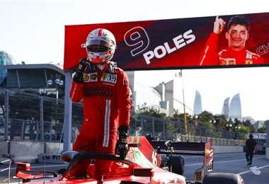 Charles Lecrerc, piloto del equipo Ferrari. Foto: AFP