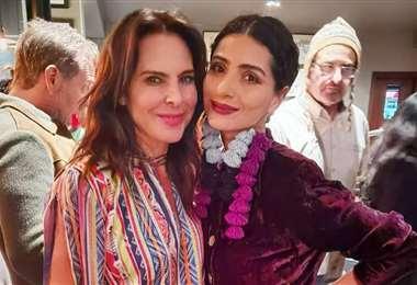 Vero Pérez junto a la actriz mexicana Kate del Castillo