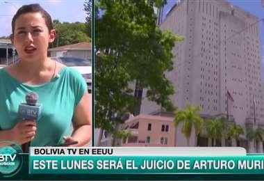 Bolivia TV emite despachos desde Miami a la espera de la audiencia
