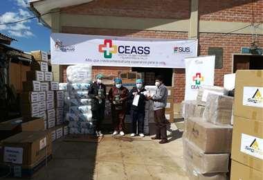 CEASS de Chuquisaca recibe la ayuda ministerial