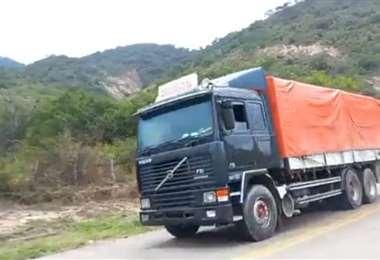 Este es uno de los tres vehículos que se encontraron con contrabando.
