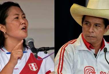 La distancia entre Fujimori y Castillo es cada vez más apretada
