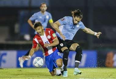 Paraguay sacó un valioso punto de visitante ante Uruguay. Foto: AFP