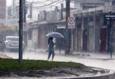 Santa Cruz registró lluvias desde la madrugada.