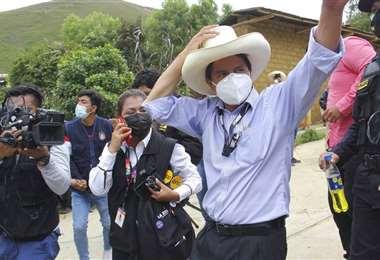 El candidato de Perú Libre.