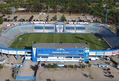 Una vista panorámica del estadio San Carlos de Apoquindo. Foto: Internet