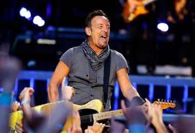 Bruce Springsteen en una de sus actuaciones