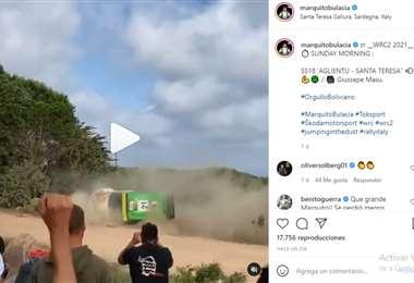 Captura de pantalla del video que publicó Marco Bulacia en Instagram