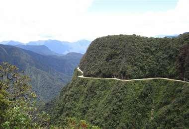 Camino a los Yungas, uno de los lugares que aparecerá en esta teleserie