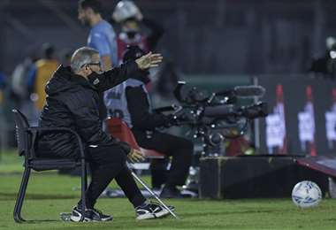 Washington Tabárez, entrenador de la selección uruguaya. Foto: AFP