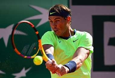 Nadal ya se anotó para cuartos de final en el Abierto de Francia. Foto: AFP