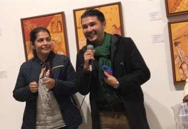 Renate Hollweg y Juan Carlos Cáceres muestran sus obras en Casa Melchor Pinto