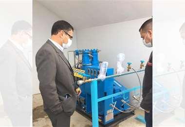 Tarija instala su propia planta generadora de oxígeno medicinal
