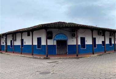 La casona está ubicada en la esquina de las calles Chuquisaca y Manuel Ignacio Salvatierra