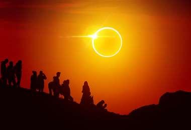 El anillo de fuego del eclipse anular de sol