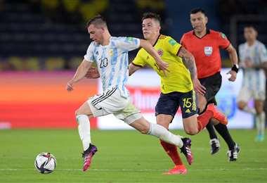 Argentina visita a Colombia. Se juega en Barranquilla. Foto: AFP