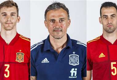 Llorente (izq.) y Busquets (dcha.), preocupan al DT Luis Enrique (c). Foto: Internet