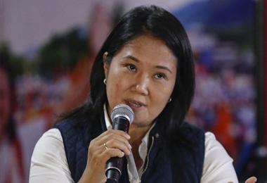 Keiko Fujimori, candidata a la presidencia de Perú. Foto. AFP