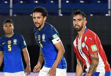 Marquinhos es pieza clave en la defensa del seleccionado brasileño. Foto: AFP