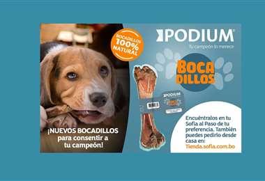 PODIUM es la línea de alimento para mascotas de Sofía