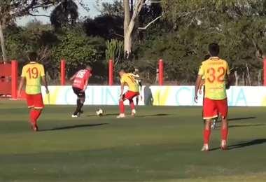 Captura de pantalla del video de BVC del amistoso entre Guabirá y Palmaflor