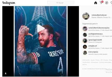 Captura de pantalla del video publicado por Sergio Ramos en Instagram