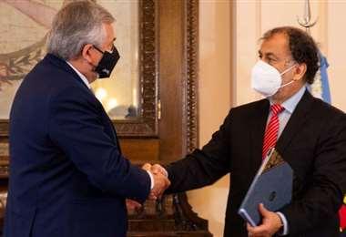Gobernador Morales y Normando Miguel Álvarez García