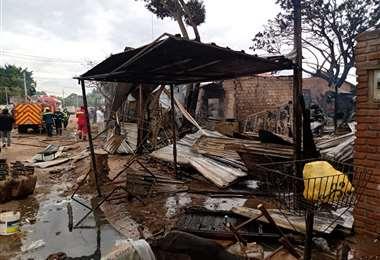 Las precarias viviendas se consumieron por las llamas