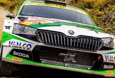 La máquina piloteada por Bulacia en el Rally de Estonia. Foto: Prensa M. Bulacia