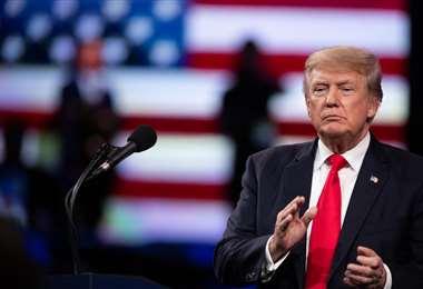 Trump convocó a sus partidarios para una marcha en Washington. Foto AFP